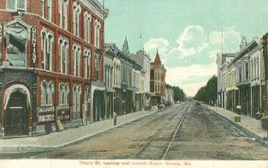 History:  Cherry St, Nevada, MO
