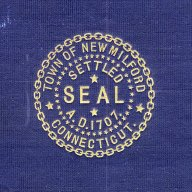 "New Milford seal from the cover of ""Two Centuries of New Milford"""
