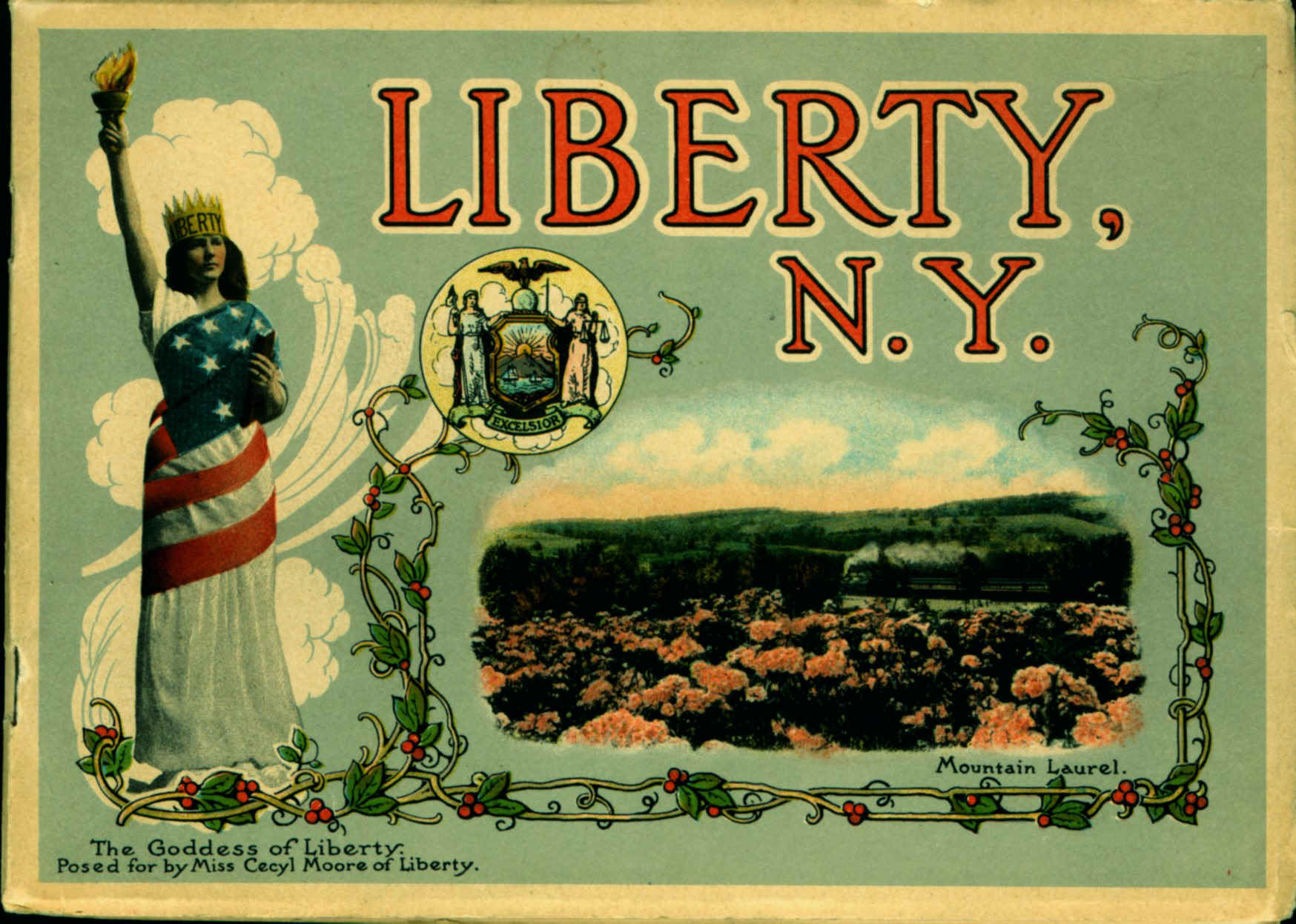 Liberty NY picture book cover: Cecyl Moore by Otto Hillig