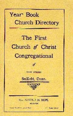 Church of Christ Congregational, Suffield, CT front cover